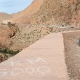 5000 kilometers completed while cycling down the valley and gorges of Dadès from high cold in the High Atlas.