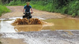 Today is the day we start on the supposedly bad roads. There is no more tar from Bandajuma until the Liberian border and I hope the rain didn't ruin the […]